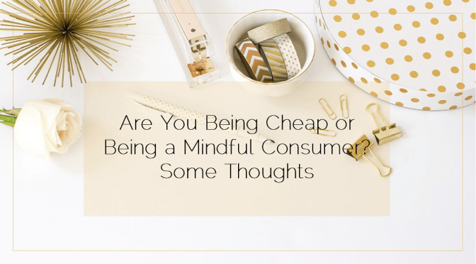 Are You Being Cheap or Being a Mindful Consumer?  Some Thoughts