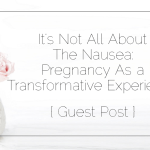 It's Not All About The Nausea: Pregnancy As a Transformative Experience { Guest Post }