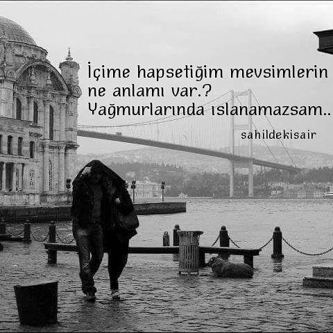 içime hapsetiğim mevsimlerin ne anlamı var yağmurlarında ıslanamazsam... #sinanyıldızlı #sahildekisair #farkındamısın #kitap #İstanbul #mevsim #yağmur #şiirkolik #şiirsel #şiirsokakta #kitapyurdu #edebiyat #şairlerkahvesi #şair #insta #instagood #instalike #instalove #follow