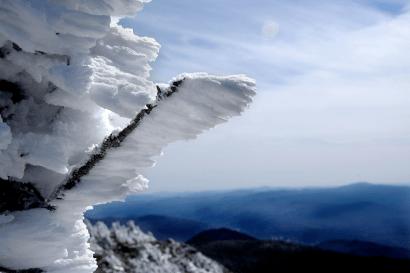 Rime Ice - Mt Flume - April 2012