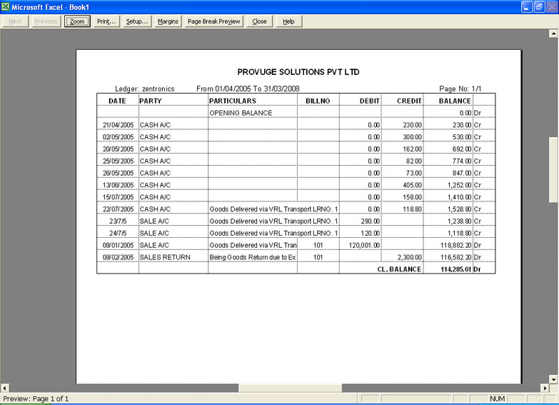 Excel Accounting bookkeeping Software - ms excel for accounting
