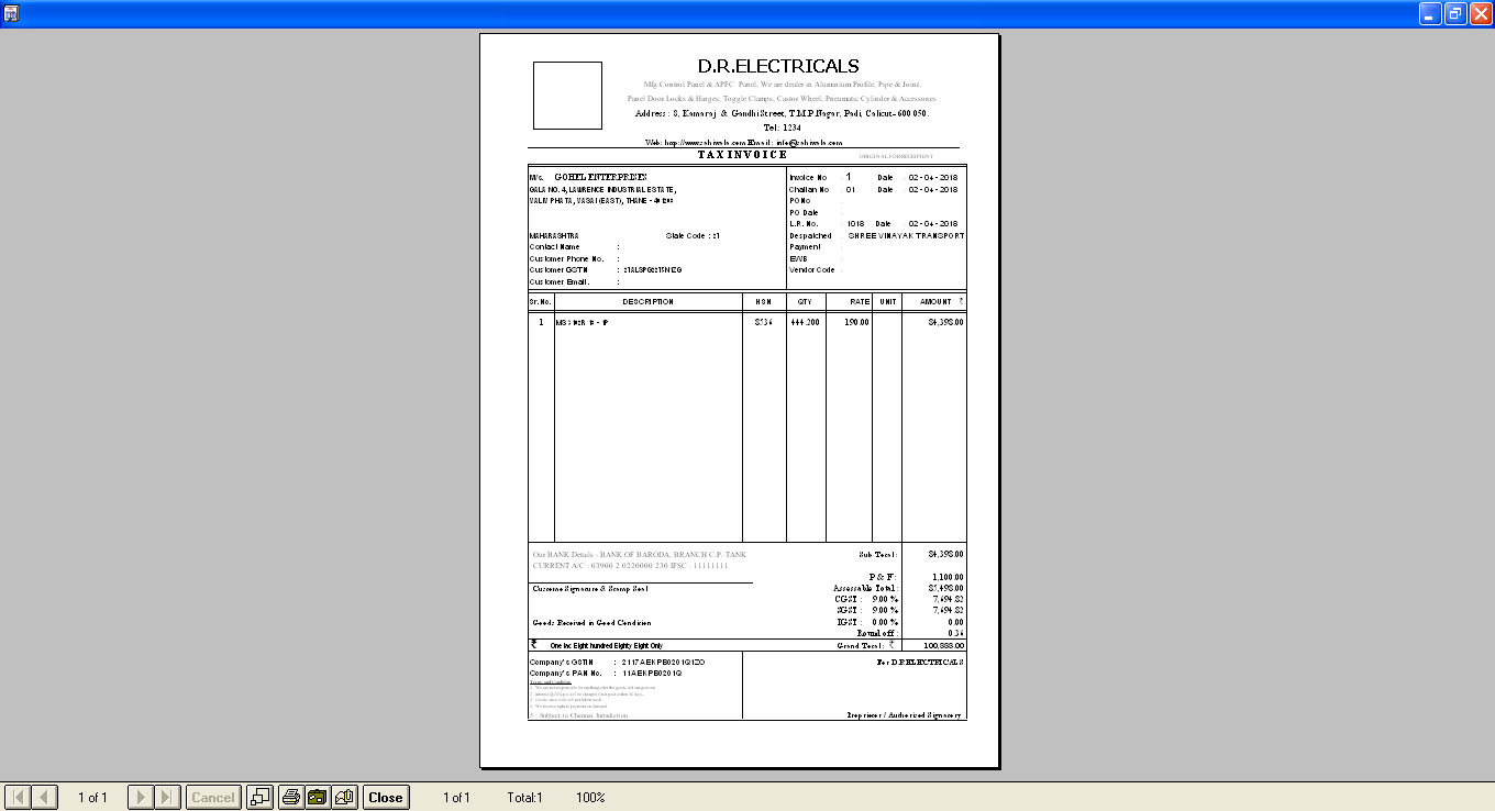 Invoice GST Printout Software  Tax Billing GST Invoicing Software