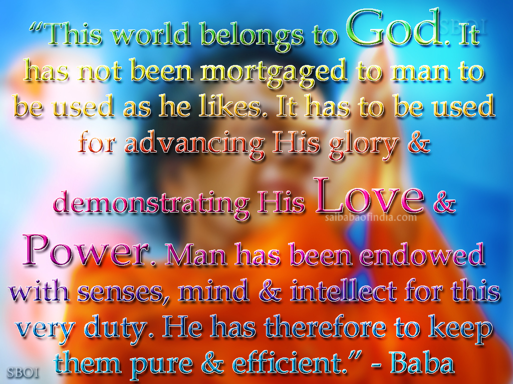 Shirdi Sai Baba Quotes Wallpapers Sathya Sai Baba Quotes With Pictures