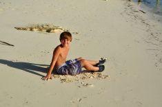 Alex loves the sand