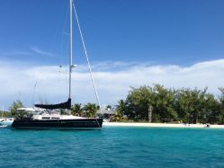 BD anchored in front of Chat 'n Chill
