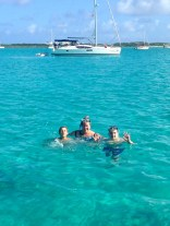 Roxane & Boys swimming