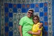 Visiting Wrigley's Memorial, Beautiful Tiles