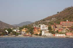 Hilly town surrounding the bay