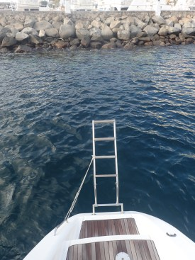 Too close for comfort as anchor swung around by morning