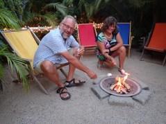After dinner at the firepit