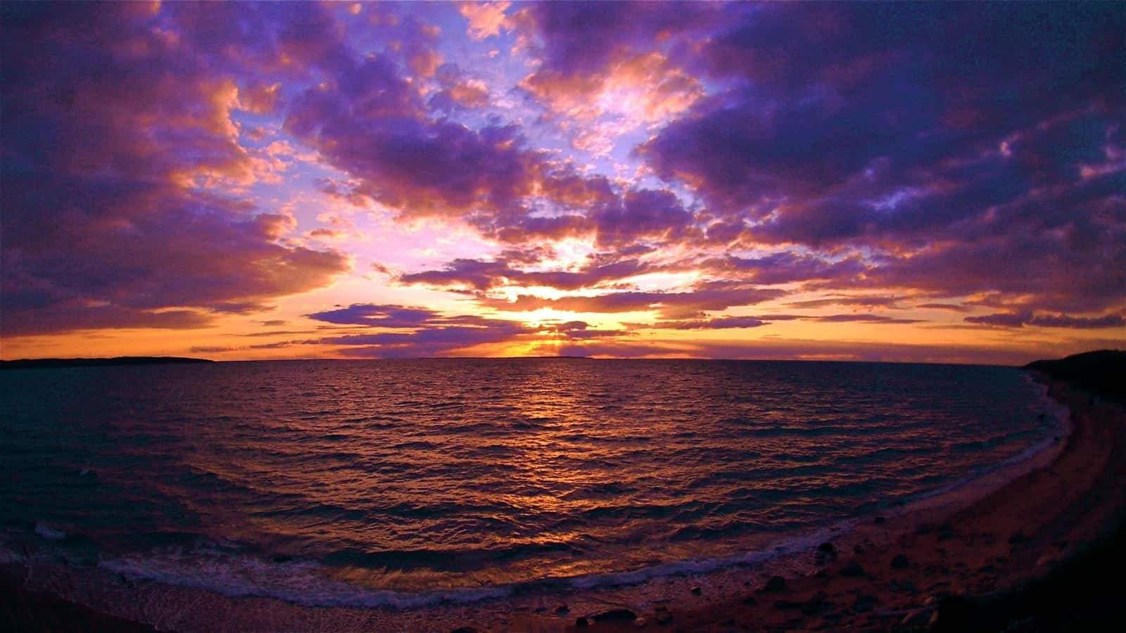 Animated Mobile Phone Wallpapers Flowers Sunset Over Gardiners Island And Fort Pond Bay As Seen