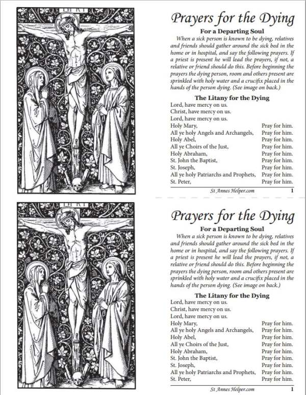 Printable Prayers For The Dying Booklet ❤+❤ Extreme Unction Kit