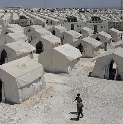 Picture of camp for Syrian Refugees in Turkey