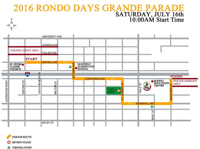 Rondo Days Parade 2016 Route
