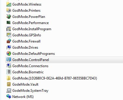 God Mode Folders