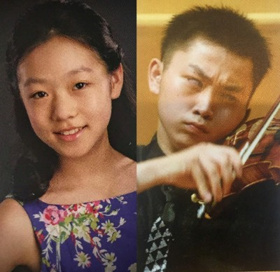 Menuhin Competition 2016 Winners Yesong Sophie Lee (12) & Ziyu He (16)