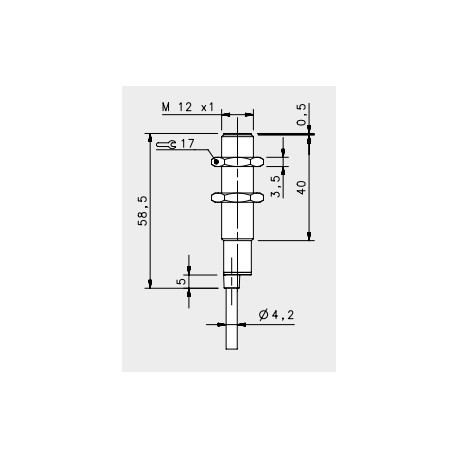IS-12-E0-03 inductive sensor, 10-30DC (4-wires), \