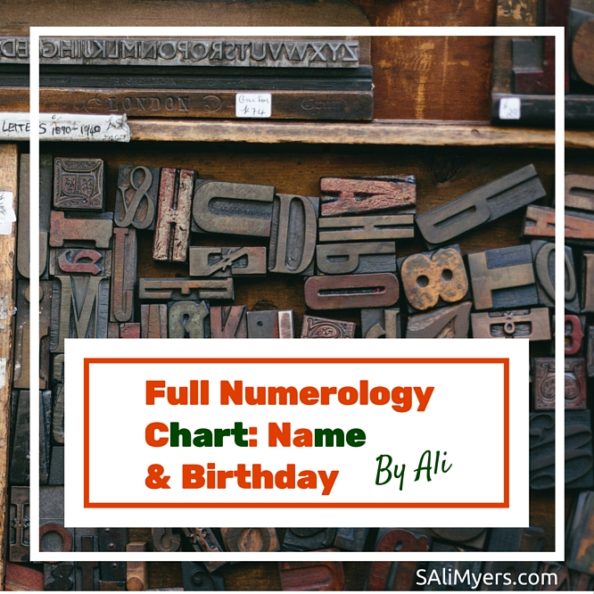 Full Numerology Chart Core Numbers (Name  Birthday) - numerology chart template