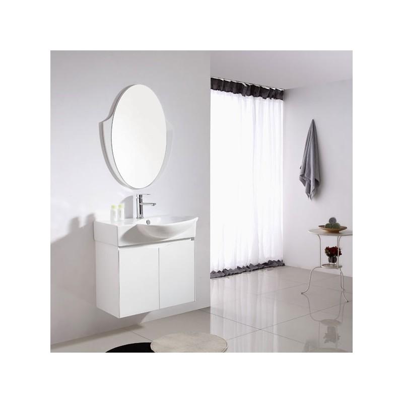 Ensemble salle de bain simple vasque REF SD091-750 - Meuble Avec Miroir Pour Salle De Bain