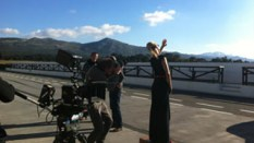 Diana Mikita, Rolls-Royce Phantom Series II shoot at Ascari