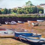 Sunshine on the Slipway A3 print on pastel paper