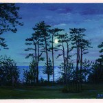 Moonlight Over the Bay - Miniature