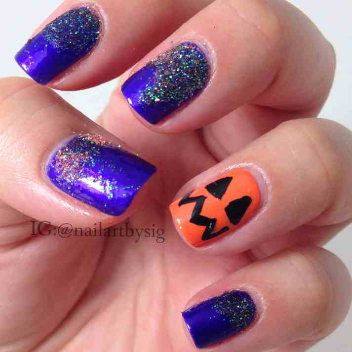 Clean up the glitter around the nails using cotton swabs. Wait for ...