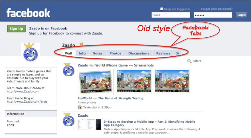 your Salon Facebook page - using Tabs