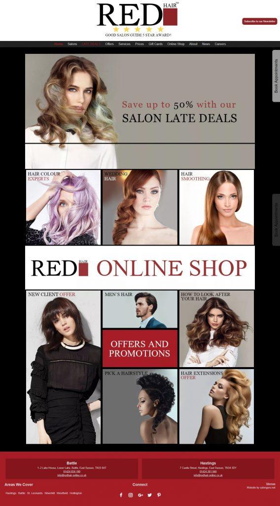 Salon Websites Gallery