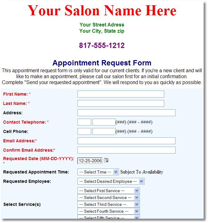 Unique Salon Software - Online Appointments!