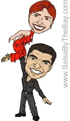 Ava Apple and Rodolfo Guzman Caricature
