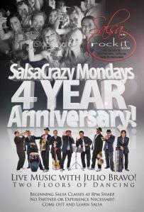 Salsacrazy Mondays 4 Year Anniversary