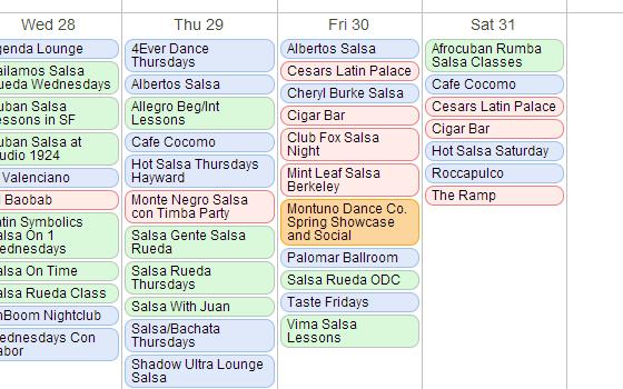 Calendar Preferred Event