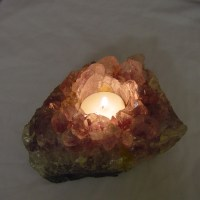 Amethyst Cluster Crystal Purple Candle Holder from Brazil ...