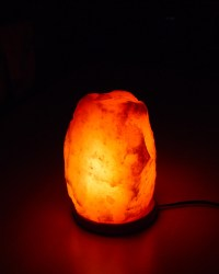 Rock Salt Lamp with Unique Design Original Style Pine Wood ...