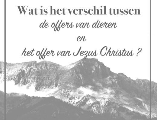offer van Jezus Christus en offers van dieren
