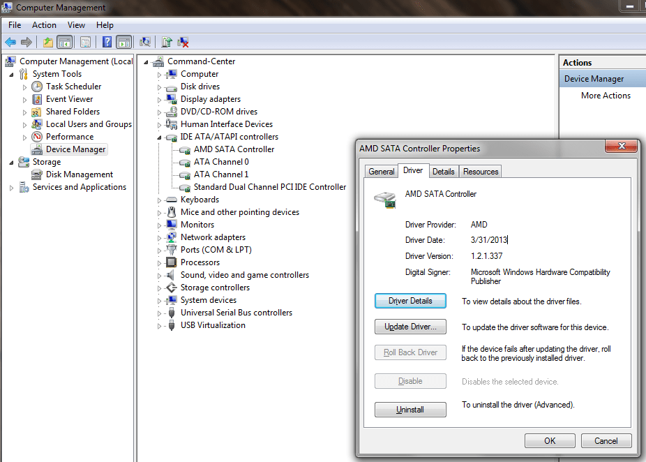Fixing The Amd Ahci Drivers For Sb7xx On Windows 7