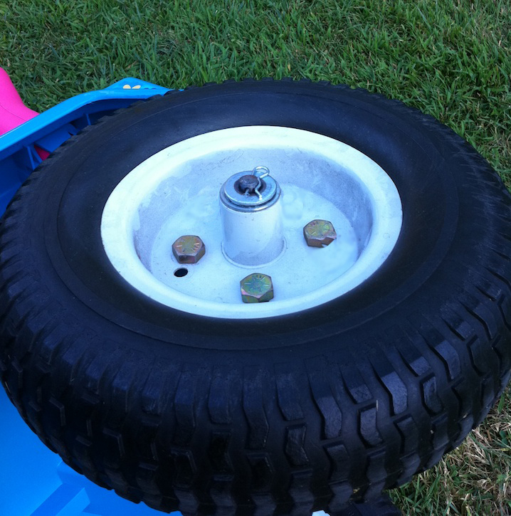 Modified Power Wheels Race Cars with Variable Speed Pedal and Rubber