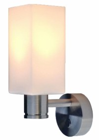 12 volt LED Wall Sconce Light (10-30vdc) with Glass Shade ...