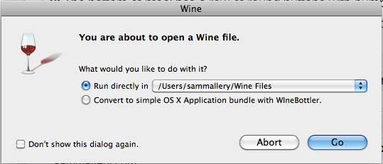Wine software for Mac