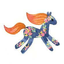 Navy Rose Pony Thumnail