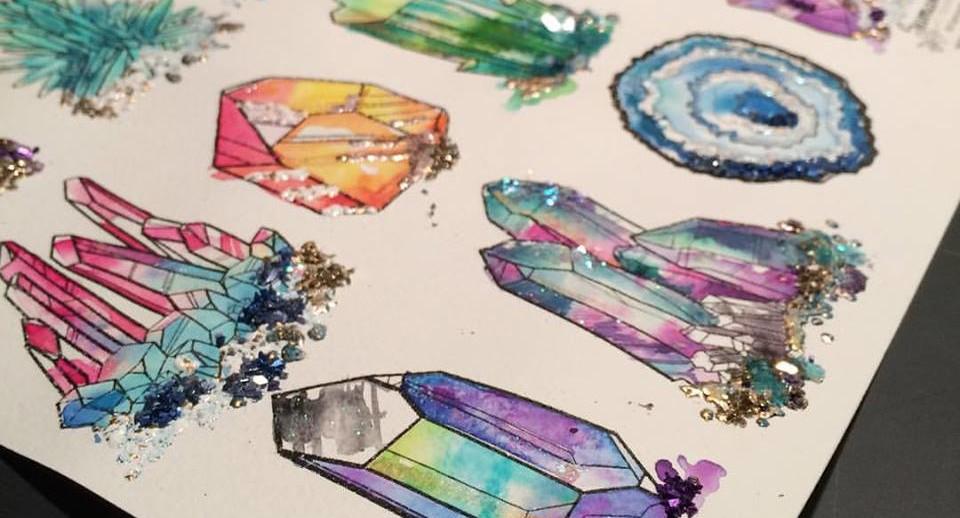 Gem Coloring Page - Samantha C George