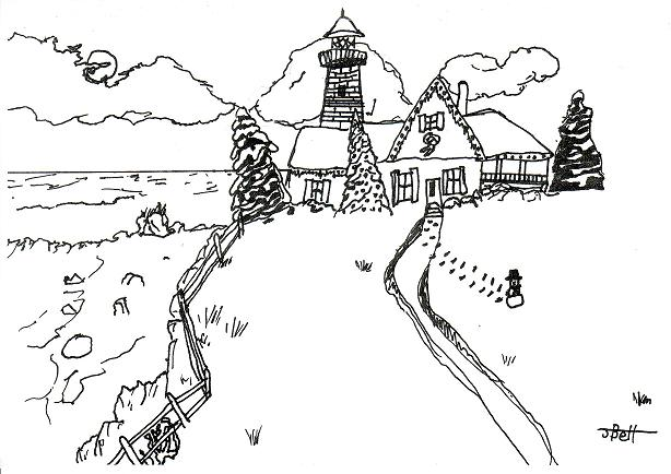 Drawing Christmas Cards in Pen and Ink - Samantha Bell - christmas cards black and white