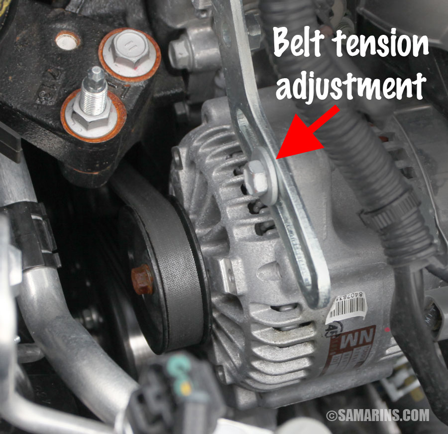 Serpentine belt, tensioner problems, signs of wear, when to replace