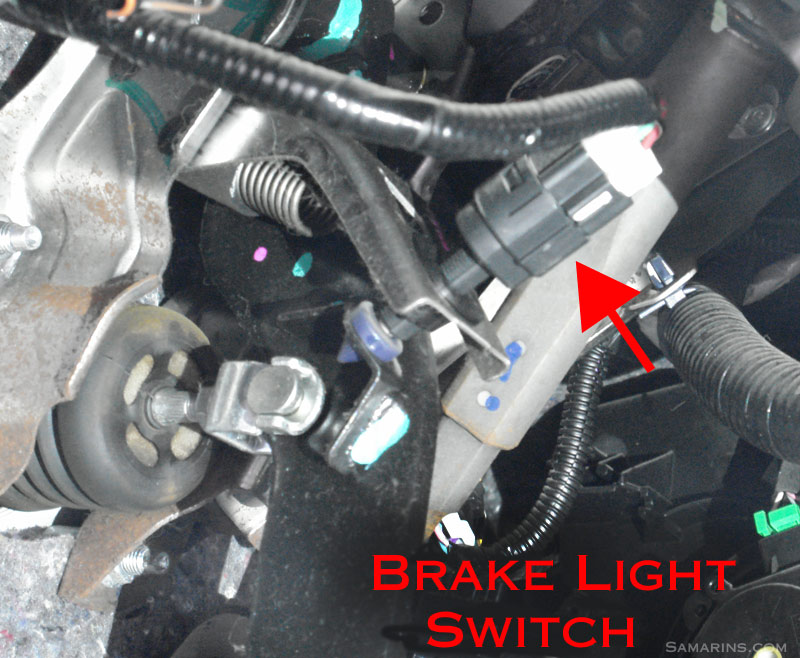 Brake light switch symptoms, problems, testing, replacement