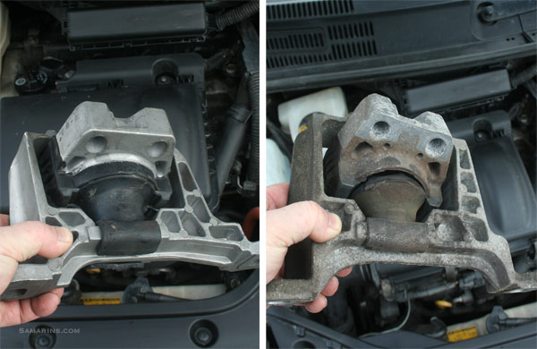 Engine mount how it works, symptoms, problems, replacement