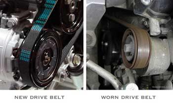 Worn drive belt