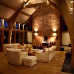 Lounge lighting with wooden beams by Sam Coles Lighting 03