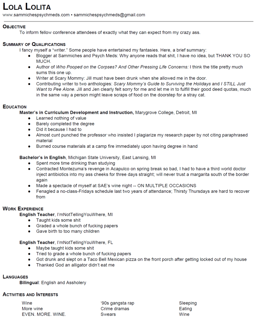 writing first resume