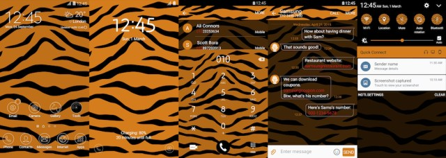 Samsung Galaxy Theme - Tiger Pattern - Paid